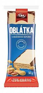 CBA Oblátka s arašidovou náplňou 40 g + 25% grátis = spolu 50 g