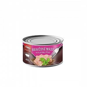 CBA Bravčové mäso vo vlastnej šťave 400 g