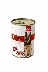 CBA kompletné krmivo pre psy s hovädzinou 415g