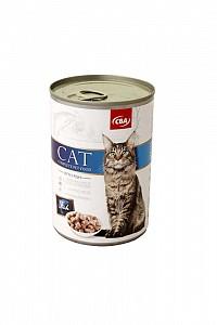 CBA kompletné krmivo pre mačky s rybou 415g