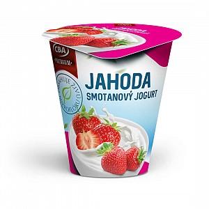 CBA Premium Smotanový jogurt jahodový 145 g