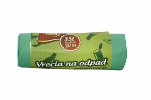 CBA Vrecia na odpad zaťahovacie 35 l / 20 ks