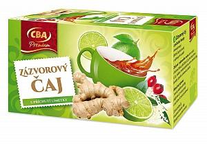 CBA Premium Zázvorový čaj s príchuťou limetky 40 g