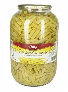 CBA Žlté fazuľové struky v mierne slanom náleve 3 500 g