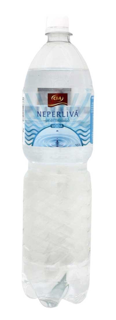 CBA Neperlivá pramenitá voda 1,5 l