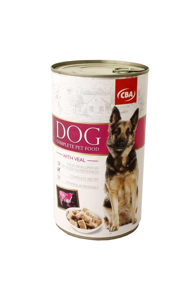 CBA kompletné krmivo pre psy s teľacinou 1240g
