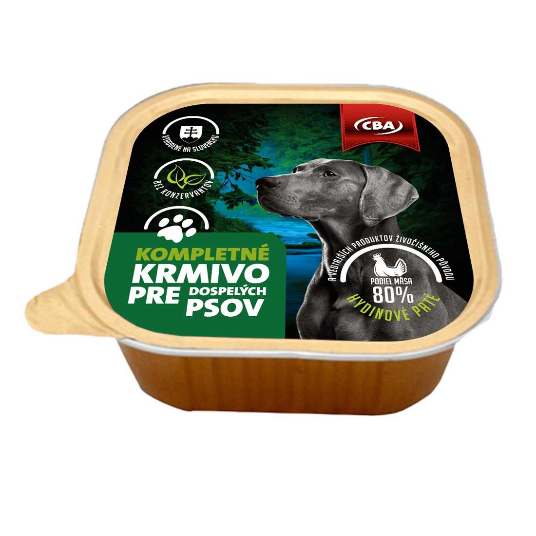 CBA kompletné krmivo pre dospelých psov 300g